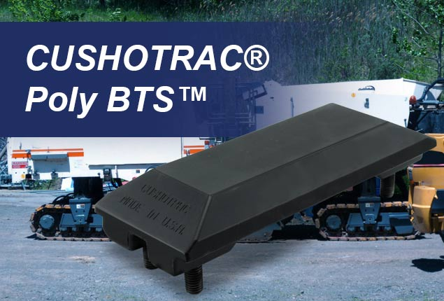CUSHOTRAC Poly BTS Track Pads for Wirtgen, Roadtec, and Other Asphalt Milling machines