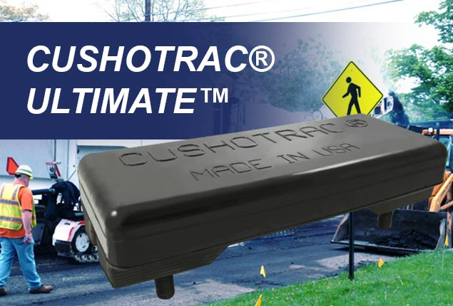 CUSHOTRAC Ultimate Track Pads for Wirtgen, Roadtec, and Other Asphalt Milling machines